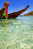 Azië in de baai Kho schommelt boot Thailand en het zuiden