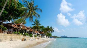 panorama van het resort foto