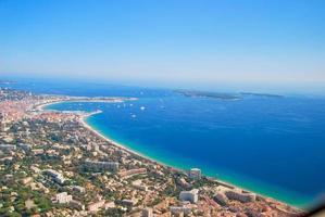 luchtfoto van de Middellandse Zee, Franse Rivièra, Cote d'azure foto