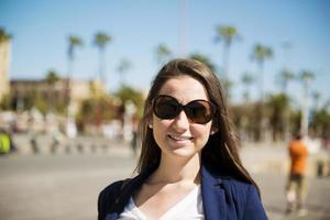 vrouwentoerist in de stad foto