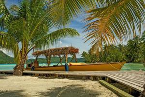 Tahitiaanse boot foto