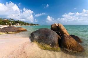 kust, stenen, zee, strand foto