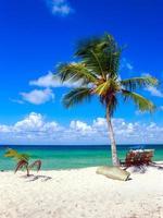 caribisch strand in dominicaanse republiek foto