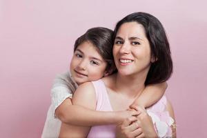 moeder en meisje foto