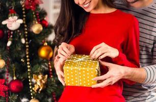 thuis kerst vieren foto