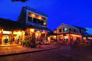 nachtopname van hoi an. Vietnam. UNESCO werelderfgoed.