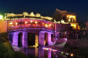 Japanse brug in hoi an. Vietnam