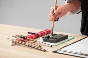 traditionele Japanse of Chinese kalligrafie