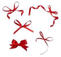 rood lint viering kerst verjaardag foto