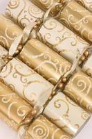 kerst cracker rij foto