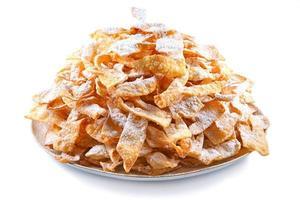 engelenvleugels, cakes gefrituurd in olie om dikke donderdag te vieren