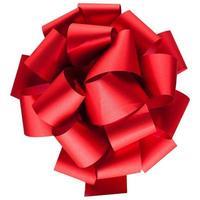 rode strik geïsoleerd op wit bovenaanzicht foto