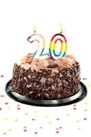 twintigste verjaardag of jubileum foto
