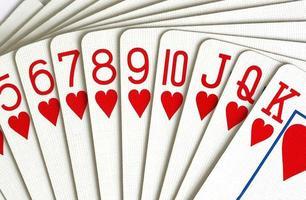 harten speelkaarten close-up foto