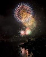 vuurwerk in de stad