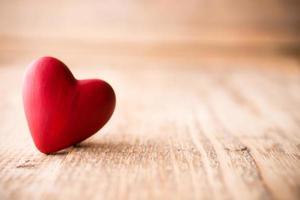 rood hart. foto