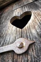 houten hart foto