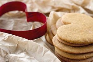 hartvormige koekjesvorm foto