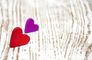 houten harten foto