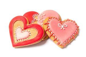 vers gebakken Valentijnsdag peperkoek - stockfoto foto