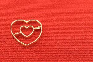 gouden hart valentines foto
