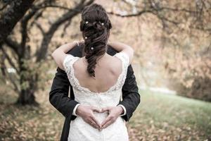 mooie bruiloft bruid foto