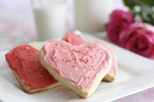 hartvormige valentijnskoekjes foto