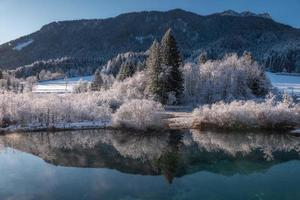 winterlandschap in de Alpen foto