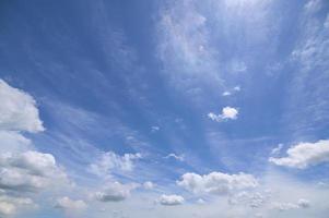overdag hemel en witte wolken foto