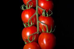 tomaten op zwarte achtergrond foto