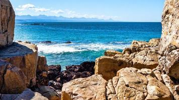 plettenbergbaai, bakeneiland, kustlijn foto