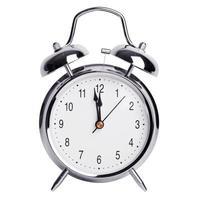 twaalf uur op een wekker