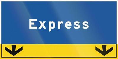 expresstrook in ontario - canada