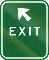 exit bord met ruimte in Australië