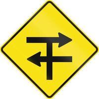 verdeelde snelweg t-splitsing in australië