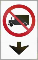 geen vrachtwagens op deze baan in Canada