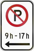 niet parkeren in bepaalde tijd in Canada