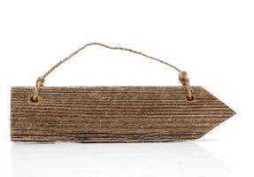 houten pijl oud en gebruikt foto