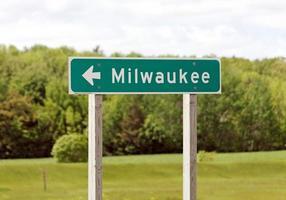 op deze manier naar Milwaukee