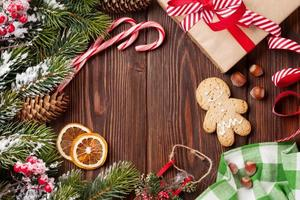 Kerstmis houten achtergrond foto