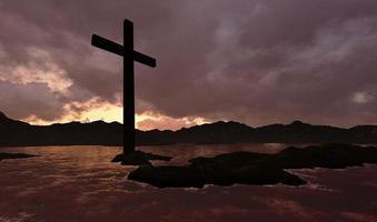 kruis in water