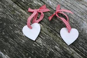 twee harten op Valentijnsdag foto