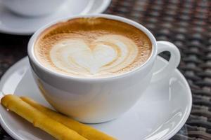 kopje koffie met hart foto