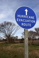 evacuatieroute voor orkanen foto