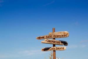 Formentera houten verkeersborden kunnen marroig