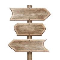 houten bord geïsoleerd op wit