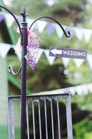 op deze manier naar de bruiloft foto