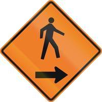 voetgangers aan de rechterkant in Canada