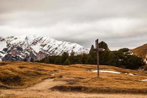 signaal voor trekkingpad foto