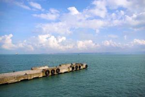 landingsplaats op de zee van marmara.